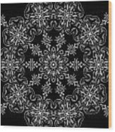 Black And White Medallion 11 Wood Print