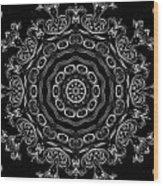 Black And White Medallion 2 Wood Print