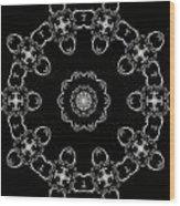 Black And White Medallion 3 Wood Print