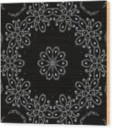 Black And White Medallion 4 Wood Print