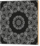 Black And White Medallion 6 Wood Print
