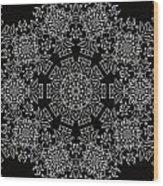 Black And White Medallion 7 Wood Print