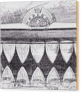 Black And White Mercury Wood Print