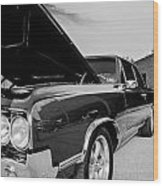 Black And White Olds Wood Print