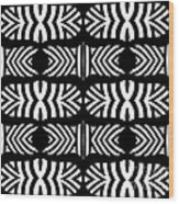 Pattern Black White Art No.302. Wood Print
