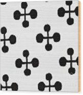 Black And White Pattern Fabric Wood Print