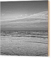 Black And White Seascape Wood Print