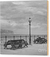 Black And White Swanage Pier Wood Print