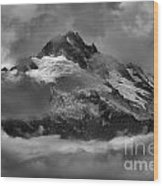 Black And White Tantalus Storms Wood Print
