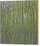 Black Bamboo Heights Wood Print