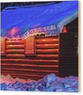 Black Bear Cabin Wood Print