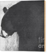Black Bear Profile Wood Print
