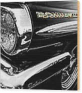 Black Bonneville Wood Print