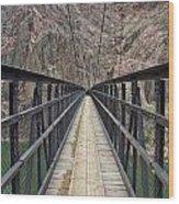 Black Bridge Wood Print