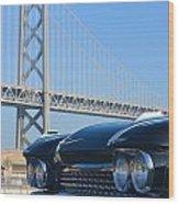 Black Cadillac In San Francisco Wood Print
