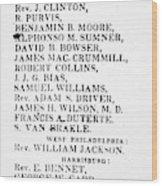 Black Candidates, C1835 Wood Print