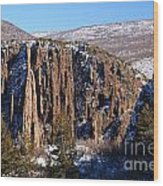 Black Canyon Butte Wood Print