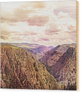 Black Canyon Colorado Wood Print