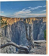 Black Canyon Fading Light Wood Print by Eric Rundle