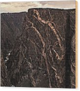 Black Canyon National Park In Colorado Wood Print