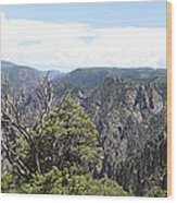 Black Canyon Of The Gunnison Panorama Wood Print