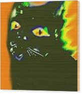 Black Cat 3 Wood Print