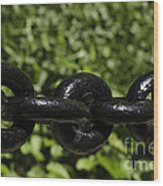 Black Chain Wood Print