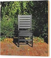 Black Chair Trio Wood Print