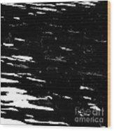 Black Cinders In Winter Wood Print