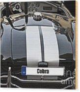 Black Cn Cobra Classic Car Wood Print