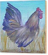 Black Copper Maran Rooster Wood Print