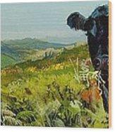 Black Cow Dartmoor Wood Print