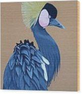 Black-crowned Crane Wood Print