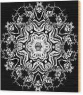 Black Diamond Princess Pendant Wood Print