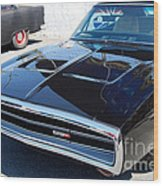 Black Dodge Charger Wood Print