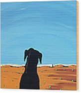 Black Dog In Chestertown, 1998 Wood Print