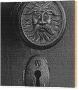 Black Door Wood Print