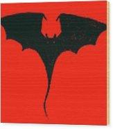 Black Dragon Wood Print