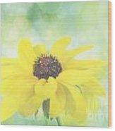 Black-eyed Susan Bokeh Wood Print