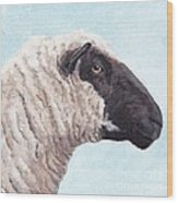Black Face Sheep Wood Print