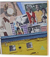 Black Family Reunion Mural Wood Print