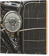 Black Ford Rod Wood Print