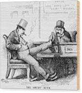 Black Friday Cartoon, 1873 Wood Print