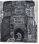 Black Gate Wood Print