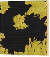 Black Gold - Abstract -art  Wood Print