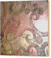 Black Gold Wood Print