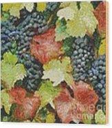 Black Grapes Wood Print