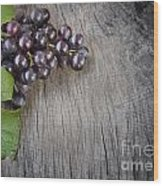 Black Grapes Wood Print