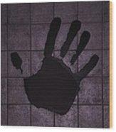 Black Hand Pink Wood Print
