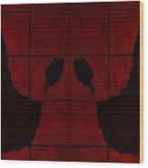 Black Hands Red Wood Print